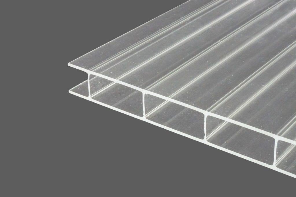 Acrylglas Doppelstegplatten 16 mm glasklar HIGHLUX® 1632 (Plexiglas® Rohmasse)