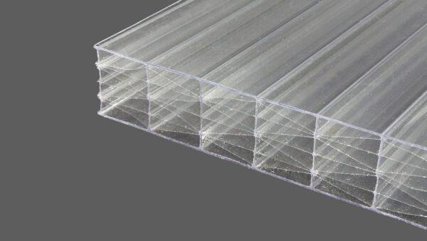 Polycarbonat Stegplatten 25 mm klar MAKROLON® UV 5M-Struktur