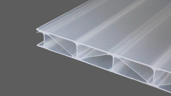 Premium Longlife Doppelstegplatten 16 mm opal weiß garantiert hagelsicher