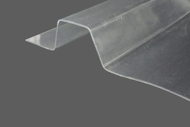 RENOLIT ONDEX HR® Industrieplatten aus PVC Trapez 207 35 E35 farblos glatt 1,4 mm