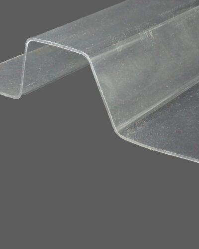 RENOLIT ONDEX HR® Industrieplatten aus PVC Trapez 250 49 E50 farblos glatt 1,4 mm