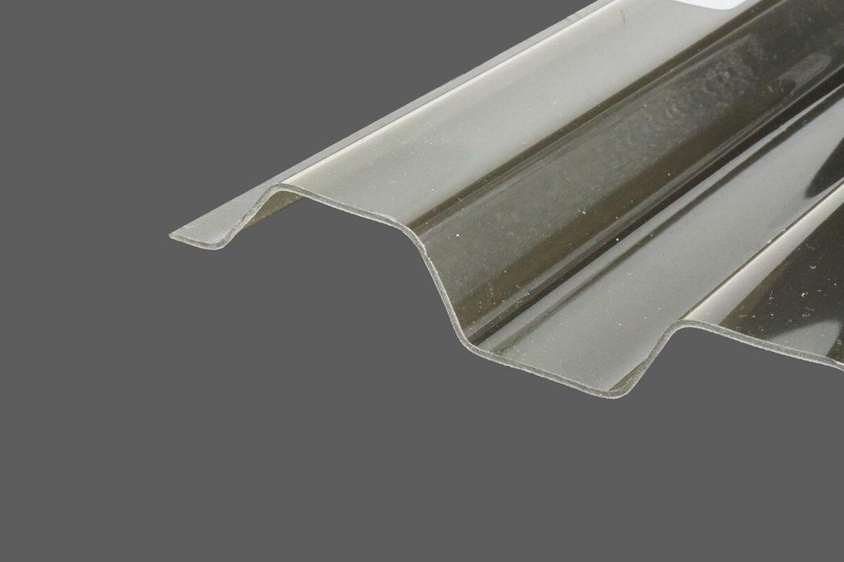 RENOLIT ONDEX HR® Profilplatten aus PVC Trapez 70 18 rauchfarben glatt 1,2 mm