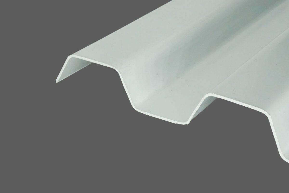 RENOLIT ONDEX SOLLUX® Profilplatten aus PVC Trapez 70 18 grau glatt 1,1 mm