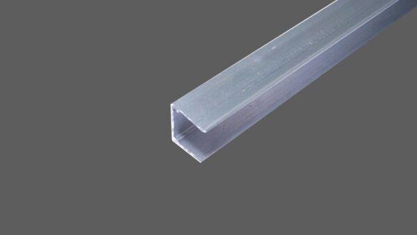 U-Abschlussprofil universal für 10 mm Stegplatten Aluminium pressblank