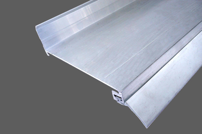 Beliebt Wandanschlußprofil aus Aluminium preßblank mit Dichtlippe OA68