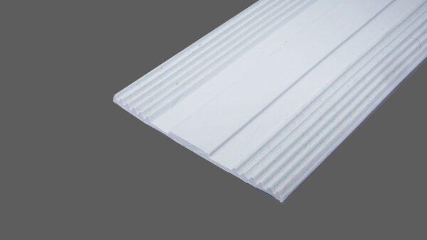 Auflagegummi hellgrau 80mm breit Glas – Flachbandprofil