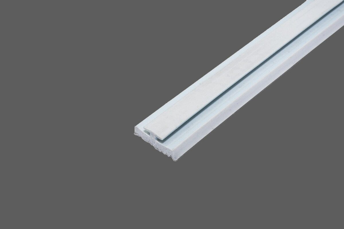 Glas-Rippendichtung hellgrau zum Einziehen in alle Profilsysteme für Glasscheiben 1