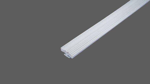 Glas-Rippendichtung hellgrau zum Einziehen in alle Profilsysteme für Glasscheiben 2