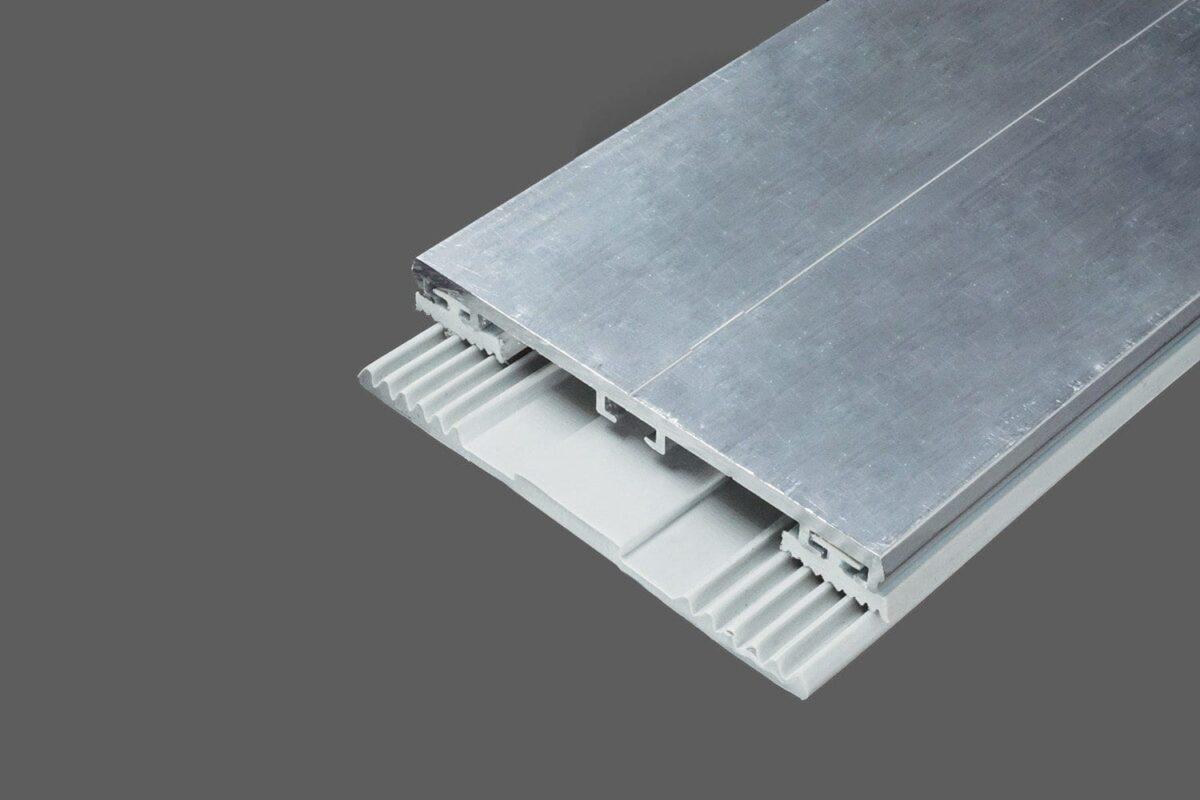 Glas-Universalprofil 80mm AluGummi für VSG und ESG inklu. Rippendichtungen und Glas-Flachbandprofil