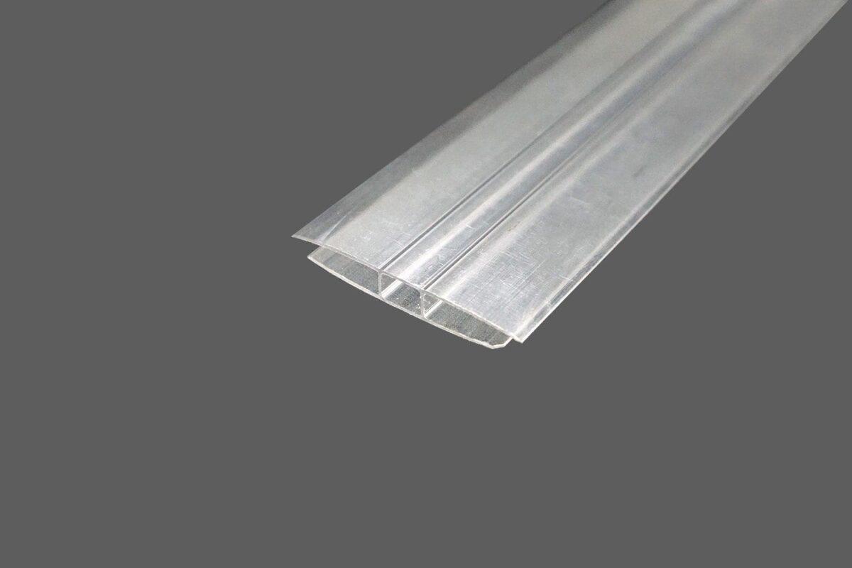 H-Profil aus Polycarbonat farblosklar für 4 mm Stegplatten