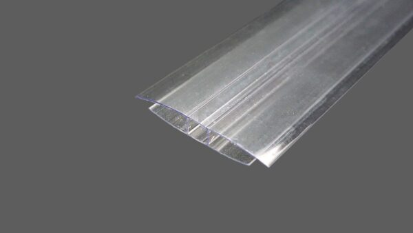 H-Profil aus Polycarbonat farblosklar für 6 mm Stegplatten
