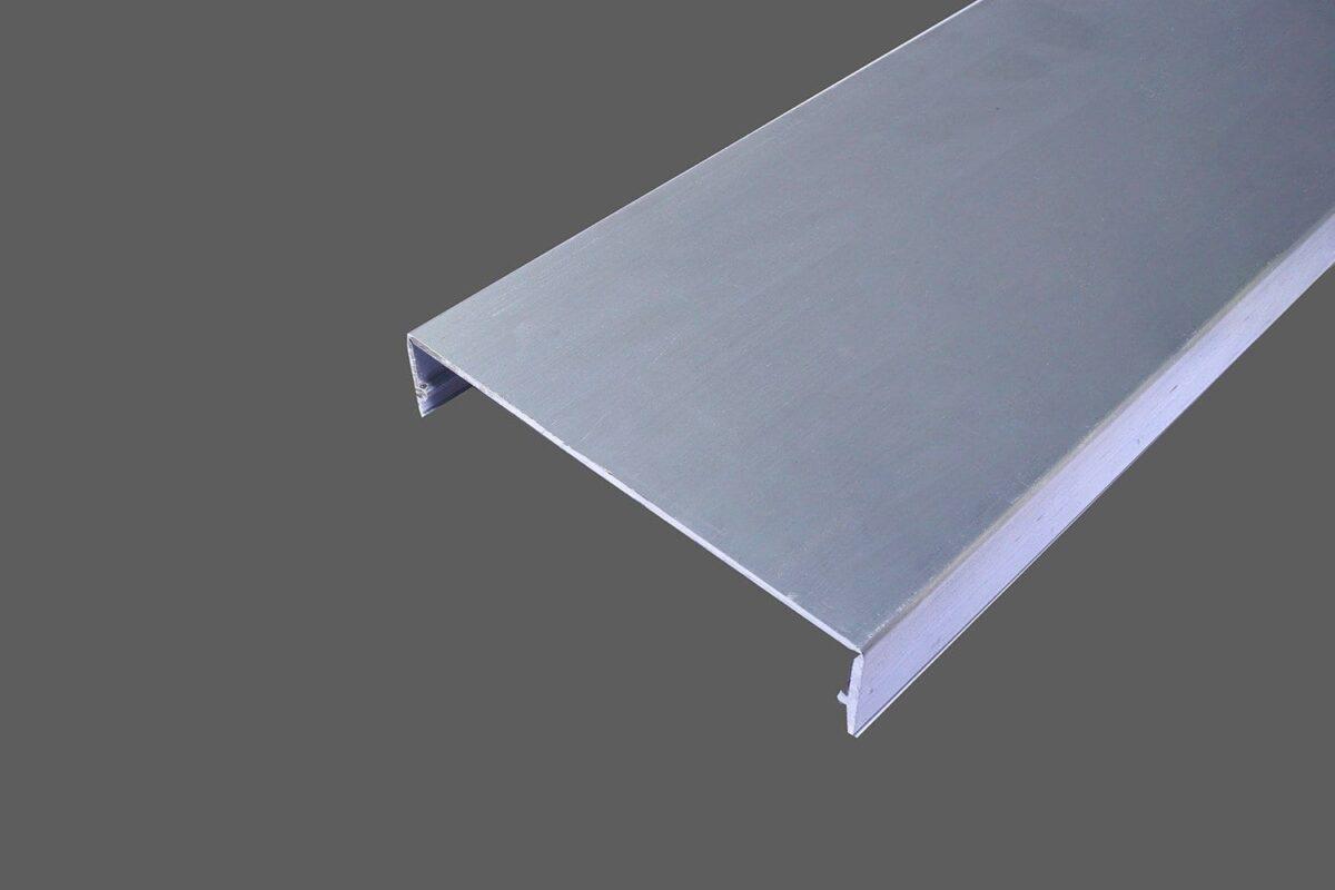 Klemmdeckel 80mm aus Aluminium für alle Glas-Profilsysteme in 80mm Breite