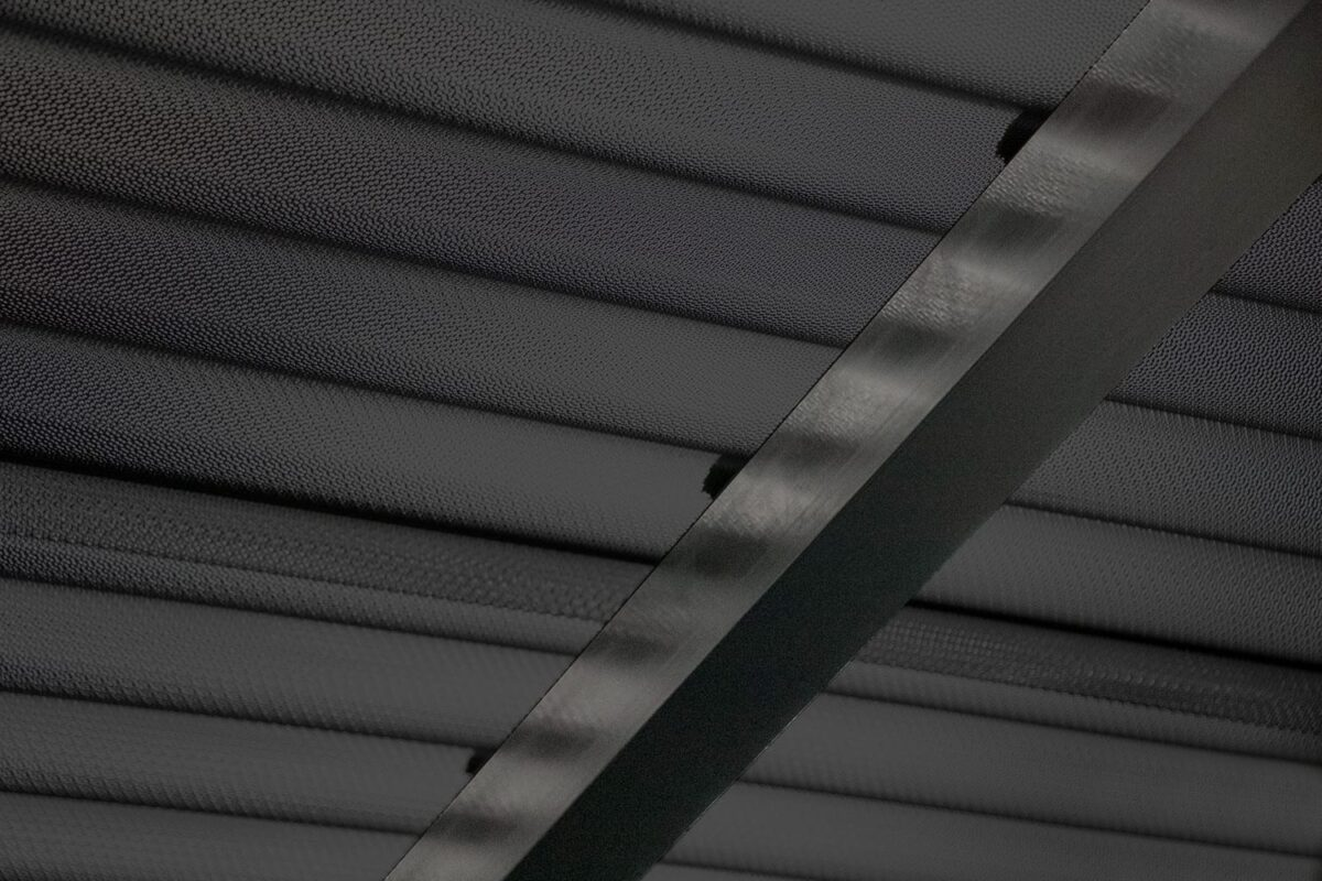 Terrassenüberdachung Wellplatten Acryl 3 mm graphit Perle