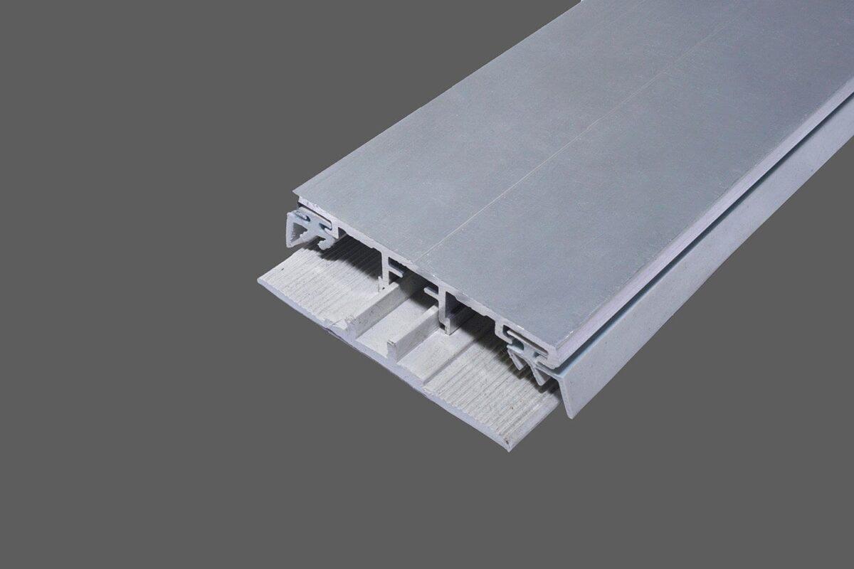 Universalprofil Oberprofil 60mm Alu-Gummi für VSG- und Drahtglas inkl. Lippendichtungen und Steg-Profilband Typ B