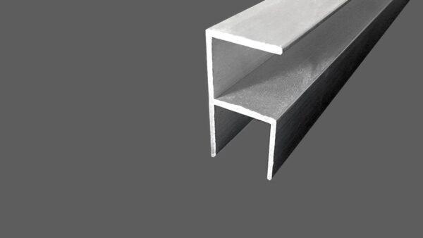 Eck-Profil aus Aluminum für 16 mm Platten preßblank