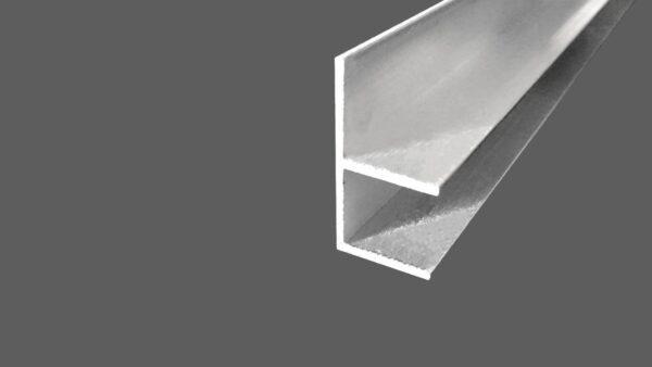 F-Profil aus Aluminum für 16 mm Platten preßblank