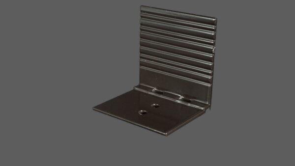 Abrutschwinkel Universal aus Aluminium braun mit Sollbruchstelle für alle Profilsysteme