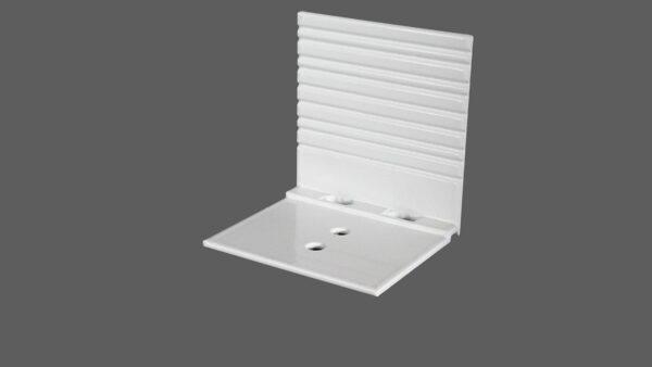Abrutschwinkel Universal aus Aluminium weiß mit Sollbruchstelle für alle Profilsysteme