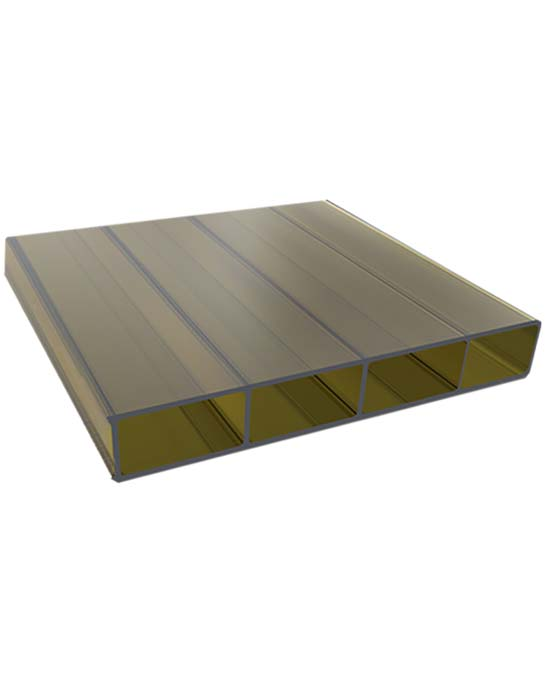 acrylglas doppelstegplatten 16 mm bronze