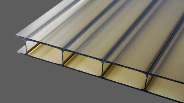 Acrylglas Doppelstegplatten 16 mm bronze rauchbraun HIGHLUX® 16 32 (Plexiglas® Rohmasse)