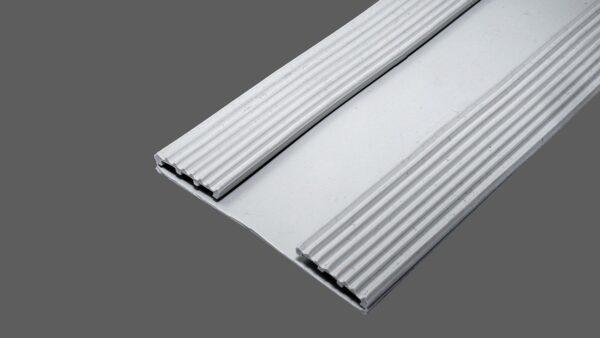 Auflagegummi hellgrau 60mm breit Auflageprofilband für 16mm Profile und Universalprofile Typ 16