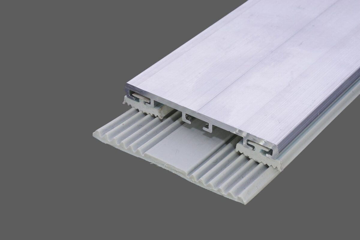 Glas-Universalprofil 60mm AluGummi für VSG und ESG inkl. Rippendichtungen und Glas-Flachbandprofil