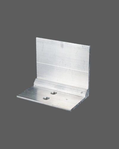 Glashaltewinkel Aus Aluminium 50×37 Mm Für Alle Glasprofilsysteme 60mm Preßblank