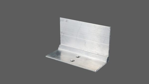 Glashaltewinkel aus Aluminium 50x37 mm für alle Glasprofilsysteme 80mm preßblank