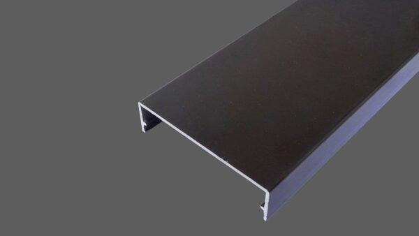 Klemmdeckel 60mm aus Aluminium braun für alle Glas-Profilsysteme in 60mm Breite