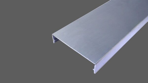 Klemmdeckel 60mm aus Aluminium preßblank für alle Glas-Profilsysteme in 60mm Breite