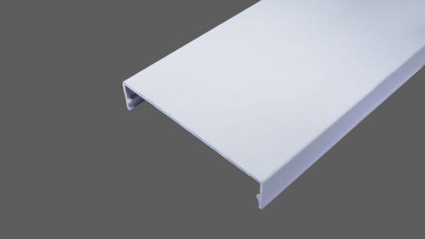 Klemmdeckel 80mm aus Aluminium weiß für alle Glas-Profilsysteme in 80mm Breite