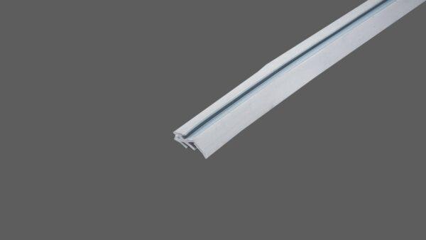 Lippendichtung hellgrau zum Einziehen in Universalprofil 60mm für Drahtglas 1