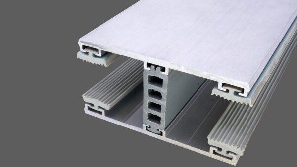 Mittelkomplettsystem 80mm Alu-Alu für 24mm Isoglas inkl. Rippendichtungen und Distanzprofil