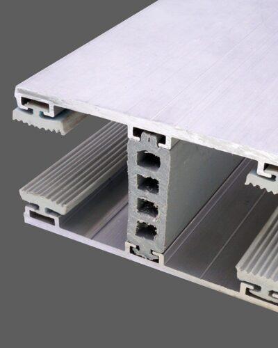 Mittelkomplettsystem 80mm Alu-Alu für 26mm Isoglas inkl. Rippendichtungen und Distanzprofil