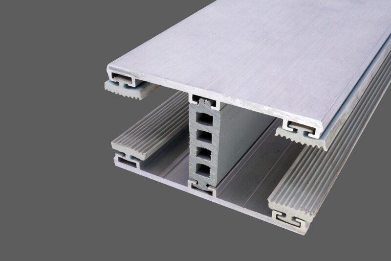 Mittelkomplettsystem 80mm Alu-Alu für 28mm Isoglas inkl. Rippendichtungen und Distanzprofil