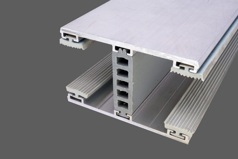 Mittelkomplettsystem 80mm Alu-Alu für 32mm Isoglas inkl. Rippendichtungen und Distanzprofil