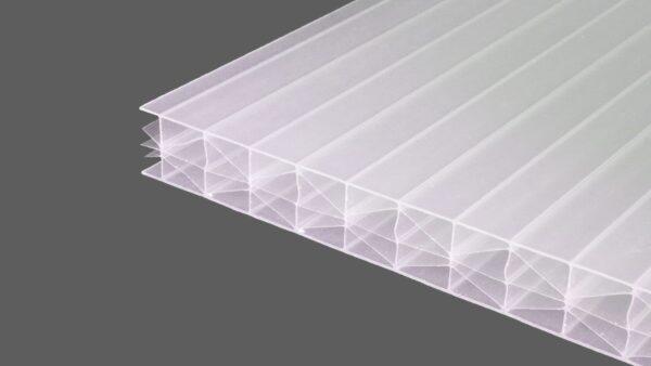 Polycarbonat Stegplatten 16 mm weiß opal MAKROLON® UV 5X-Struktur IQ-Relax