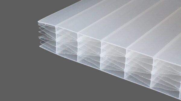 Polycarbonat Stegplatten 25 mm weiß opal MAKROLON® UV 5M-Struktur IQ-Relax