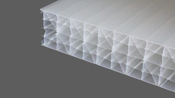 Polycarbonat Stegplatten 32 mm weiß opal MAKROLON® UV 7M-Struktur IQ-Relax