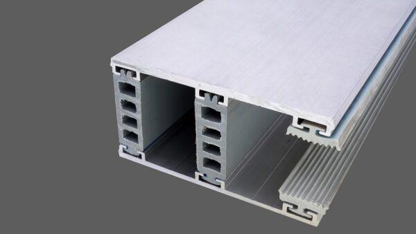 Randkomplettsystem 80mm Alu-Alu für 24mm Isoglas inkl. Rippendichtungen und Distanzprofile