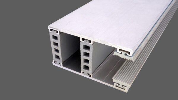 Randkomplettsystem 80mm Alu-Alu für 26mm Isoglas inkl. Rippendichtungen und Distanzprofile