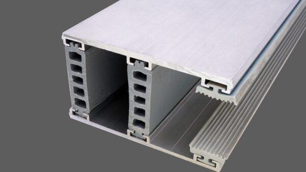 Randkomplettsystem 80mm Alu-Alu für 28mm Isoglas inkl. Rippendichtungen und Distanzprofile