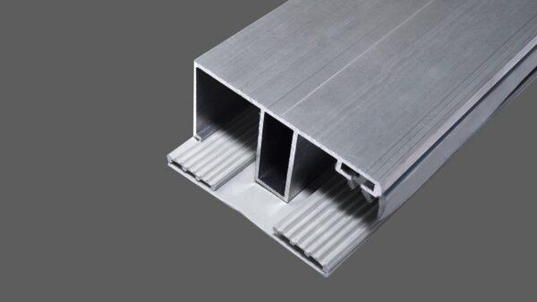 Doppelstegplatte 16mm stark opal 980mm x 2500mm Stegplatte aus Polycarbonat Steg 3 Fach
