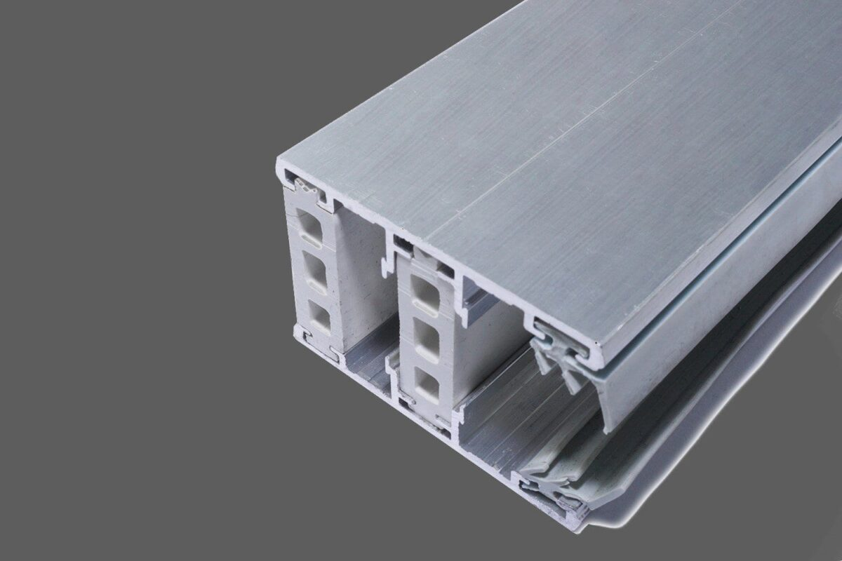 Randthermosystem 60mm Alu-Alu für 25 mm Stegplatten inkl. Thermoprofil
