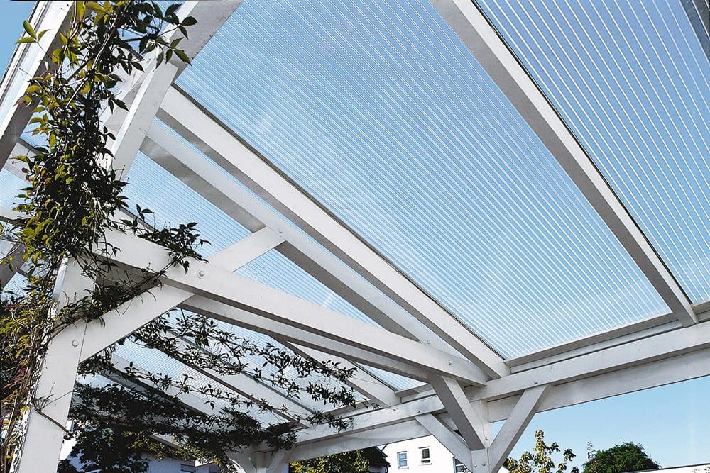 Polycarbonat Stegplatten 16 mm X-Struktur klar 3500 x 1200 x 16 mm
