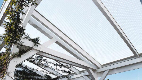 Terrassenüberdachung-Doppelstegplatten-16mm-opal-X-Struktur