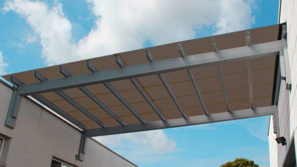 Terrassenüberdachung-Wellplatten-Acryl-3-mm-braun-wabenstruktur
