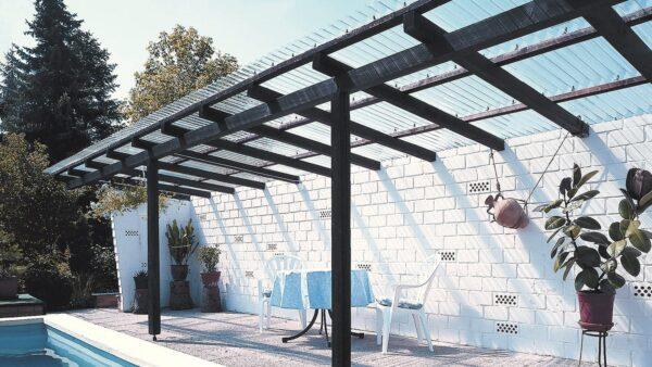 2500 x 900 mm PVC Wellplatten Sinus 76//18 klar ohne Struktur 0,8 mm