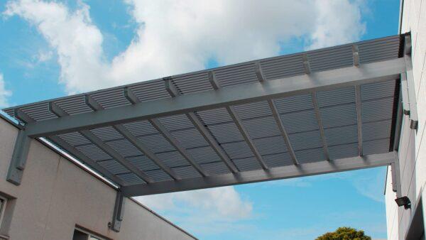 Terrassenüberdachung-Wellplatten-Acryl-3-mm-graphit-wabenstruktur