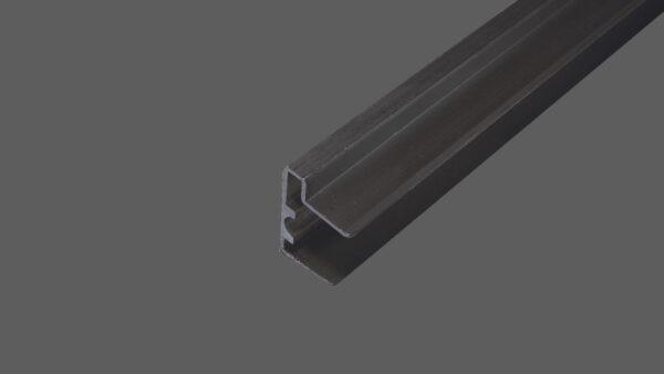 U-Abschlussprofil mit Tropkante 16mm Alu pressblank